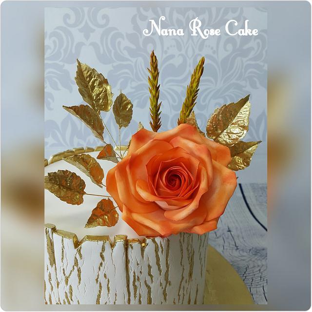 Gold and Orange Rose