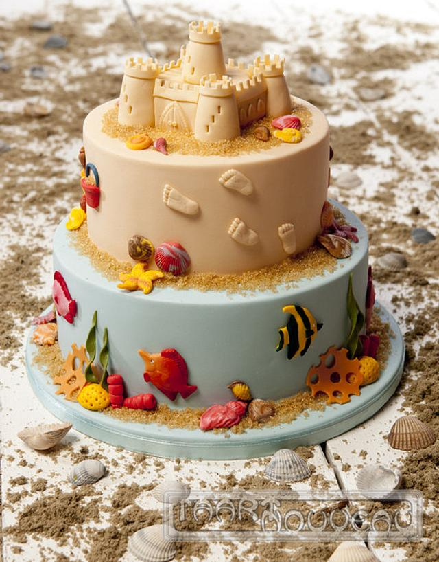 Sandcastle Beach Cake