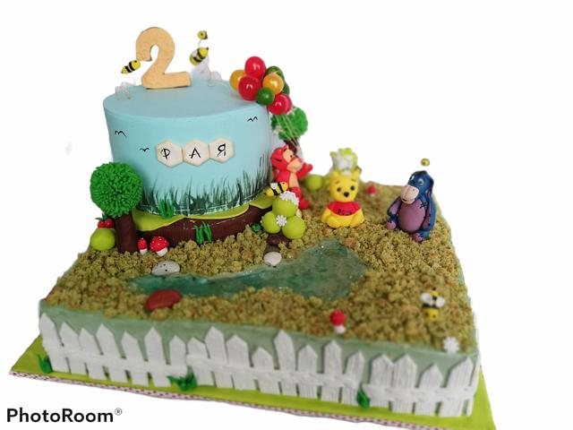 Winnie the Pooh and friends cake