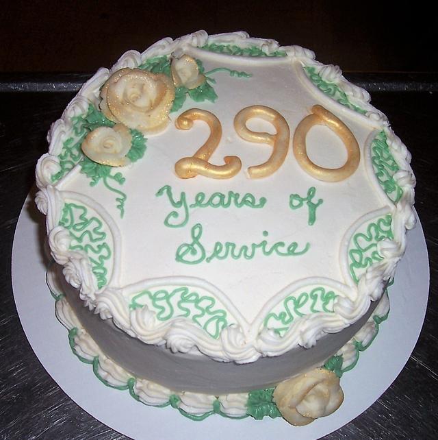 Appreciation for Service Cake