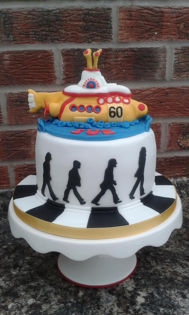 Incredible Beatles Birthday Cake Cake By Karens Kakery Cakesdecor Funny Birthday Cards Online Alyptdamsfinfo