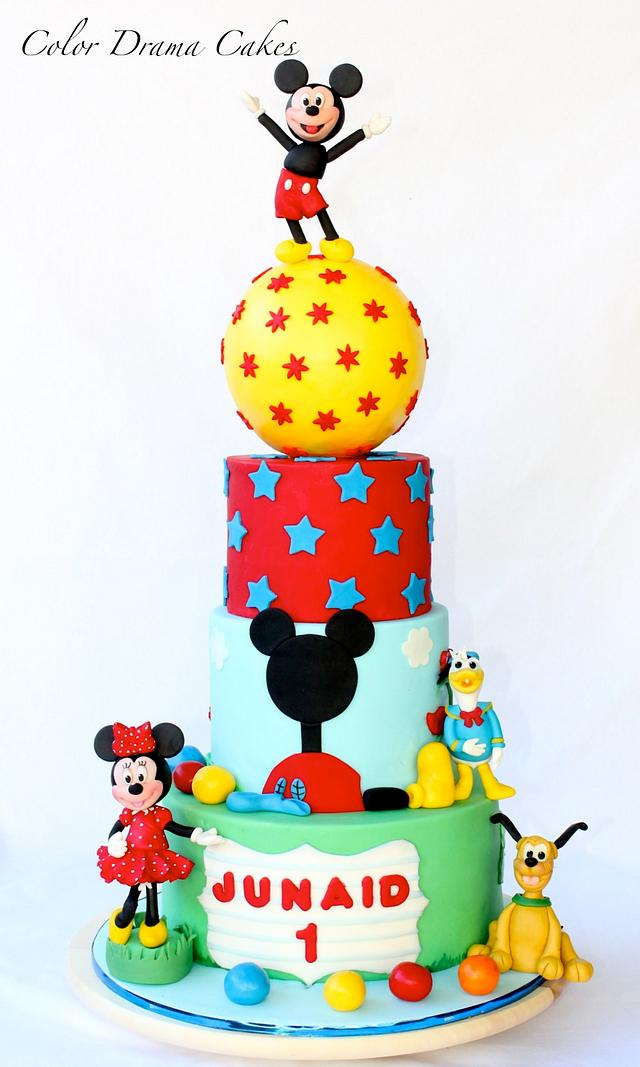 Fine Mickey Mouse Themed Cake Cake By Color Drama Cakes Cakesdecor Funny Birthday Cards Online Unhofree Goldxyz