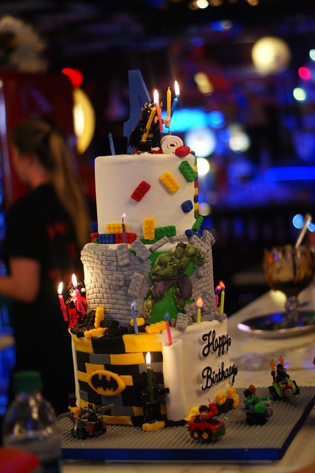 Lego Super Hero Cake