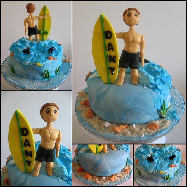 Astonishing A Surfer And Surfboard Cake Cake By Veenas Art Of Cakes Cakesdecor Personalised Birthday Cards Petedlily Jamesorg