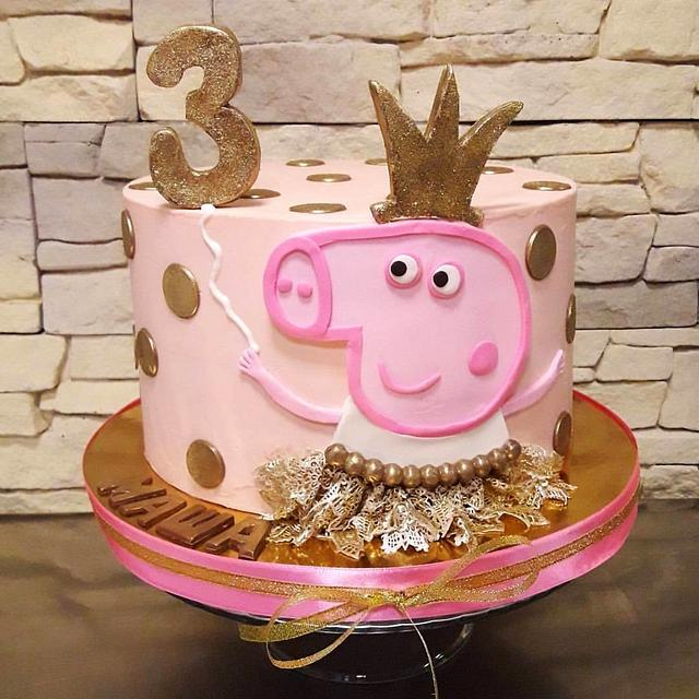 Peppa the Pig cream cake