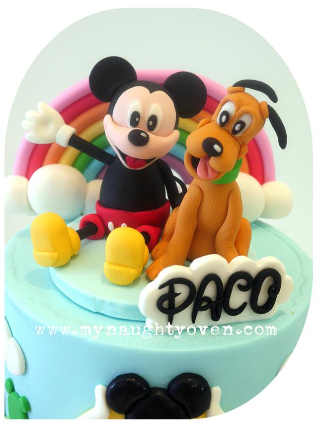 Magnificent Mickey Pluto Specialty Cake Cake By Mynaughtyoven Cakesdecor Funny Birthday Cards Online Elaedamsfinfo