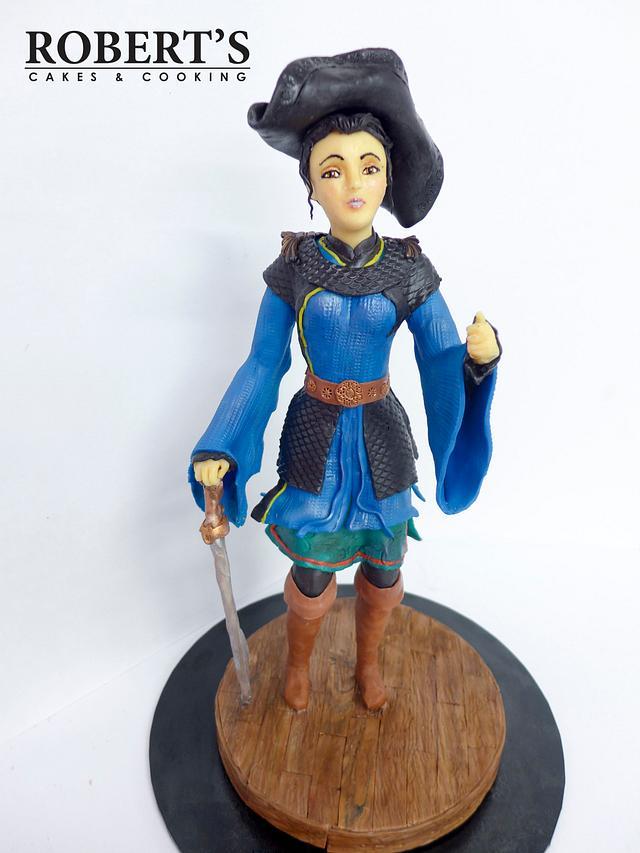 Pirate lady chocolate sculpture