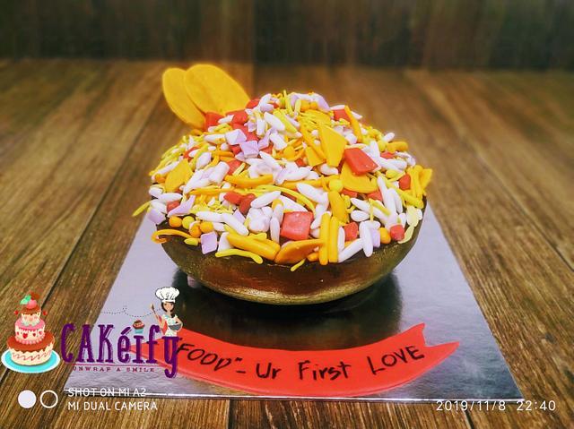 A bhelpuri cake 💝
