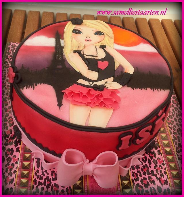 Handpainted Topmodel cake