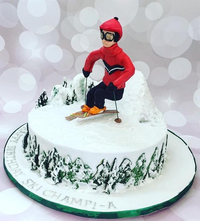 Ski theme birthday cake!