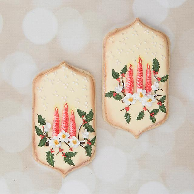 Holiday Candle Cookies