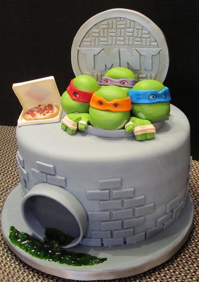 TMNT Cake - Cake by ShelleySugarCreations - CakesDecor