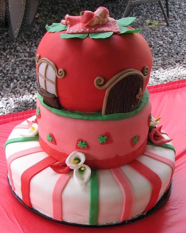 Strawberry Shortcake Baby Shower cake