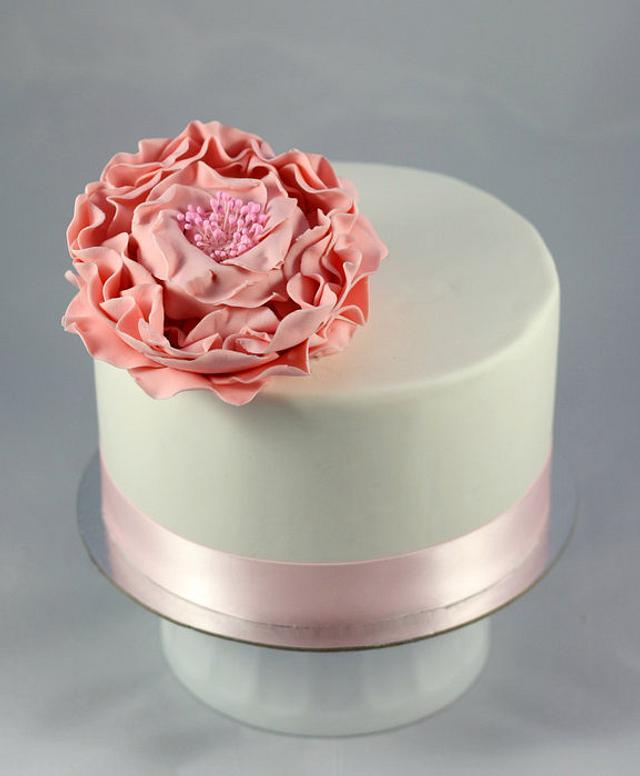 Pink Fantasy Flower Cake