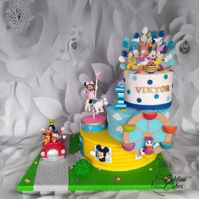Outstanding Disney World Cake Cake By Zaklina Cakesdecor Funny Birthday Cards Online Inifofree Goldxyz