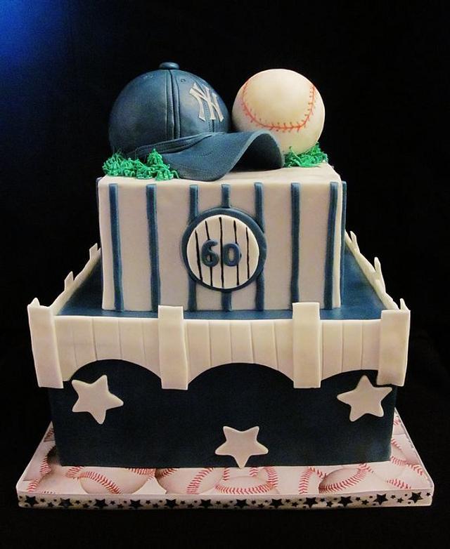 Miraculous New York Yankees Birthday Cake Cake By Mojo3799 Cakesdecor Funny Birthday Cards Online Benoljebrpdamsfinfo