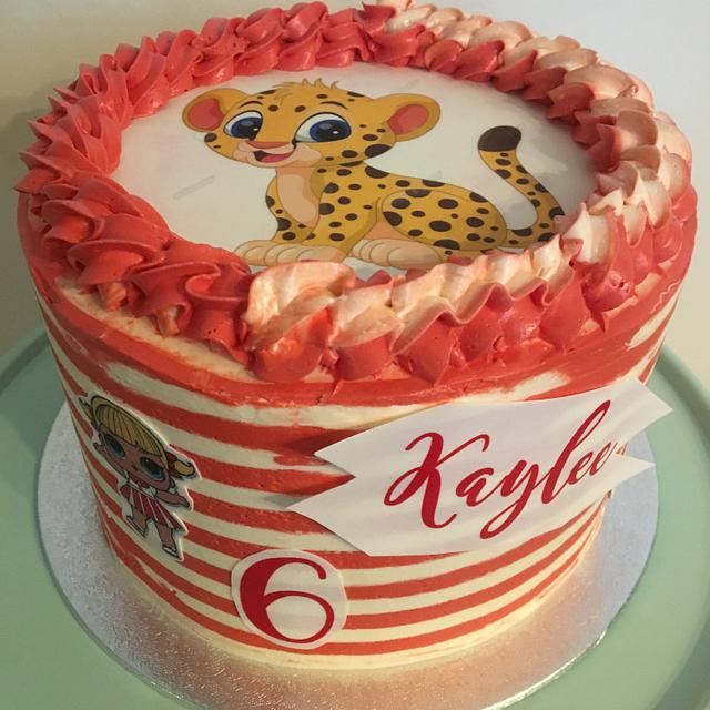 Peachy Cheetah Birthday Cake Cake By Bonniebaking Cakesdecor Funny Birthday Cards Online Benoljebrpdamsfinfo