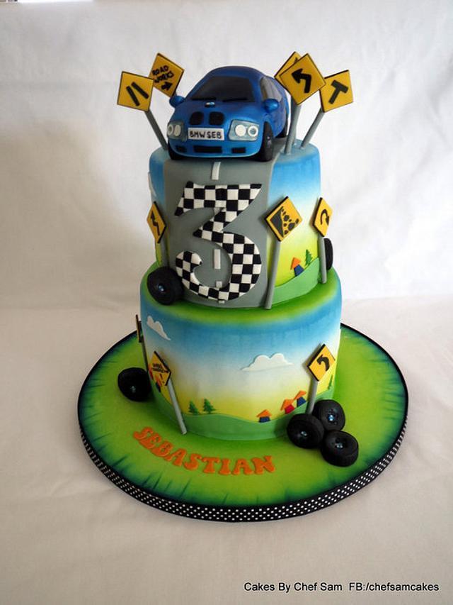 BMW birthday cake for a child