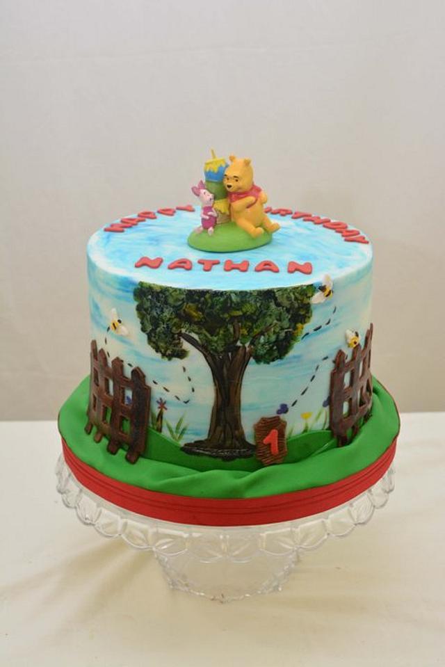Painted Winnie The Pooh Cake