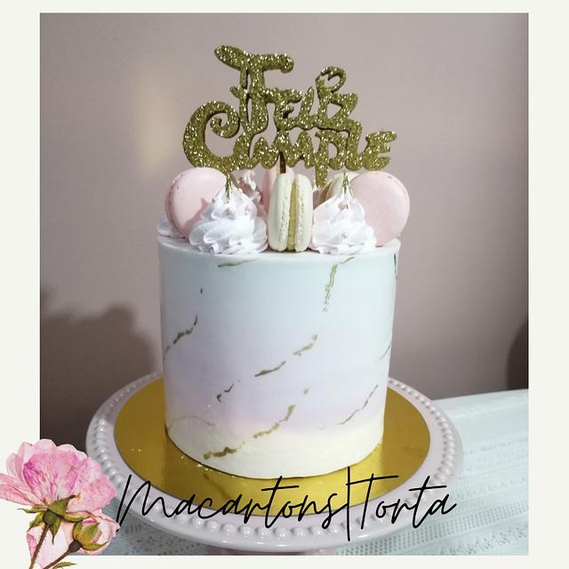 Macarrons y torta