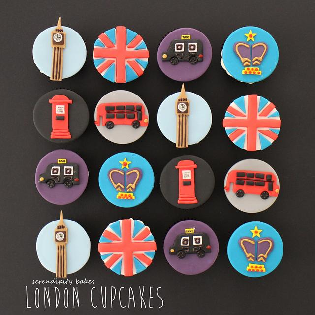 London Landmark Cupcakes