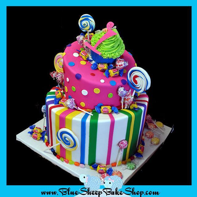Candyland 1st Birthday Cake