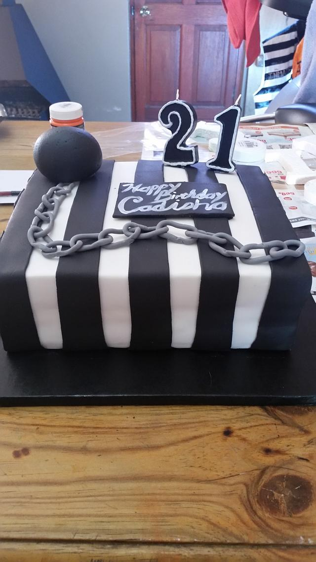 Prison Themed Cake