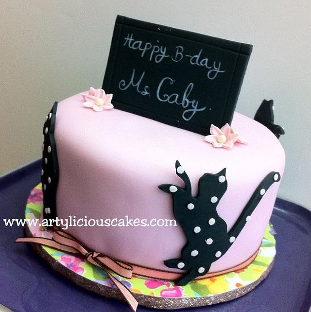 Fabulous Happy Birthday Ms Gaby Cake By Iriene Wang Cakesdecor Personalised Birthday Cards Paralily Jamesorg