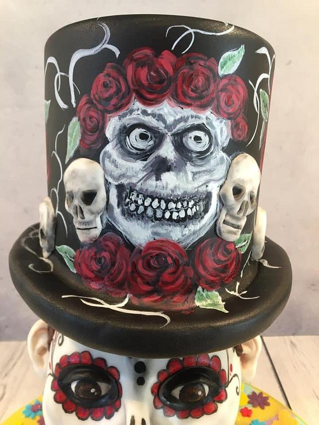 Mexican Day of the Dead Cake