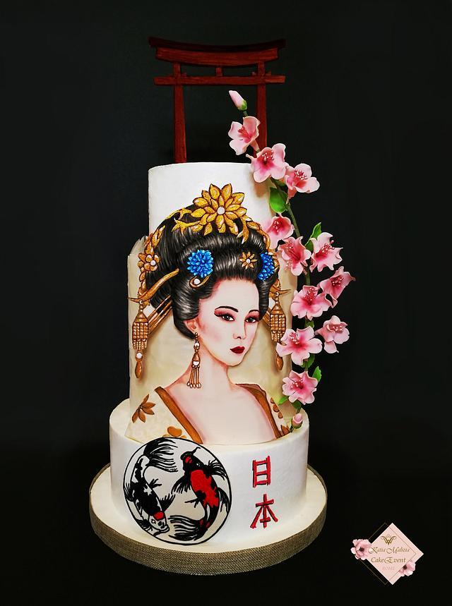 Geisha Bride Cake
