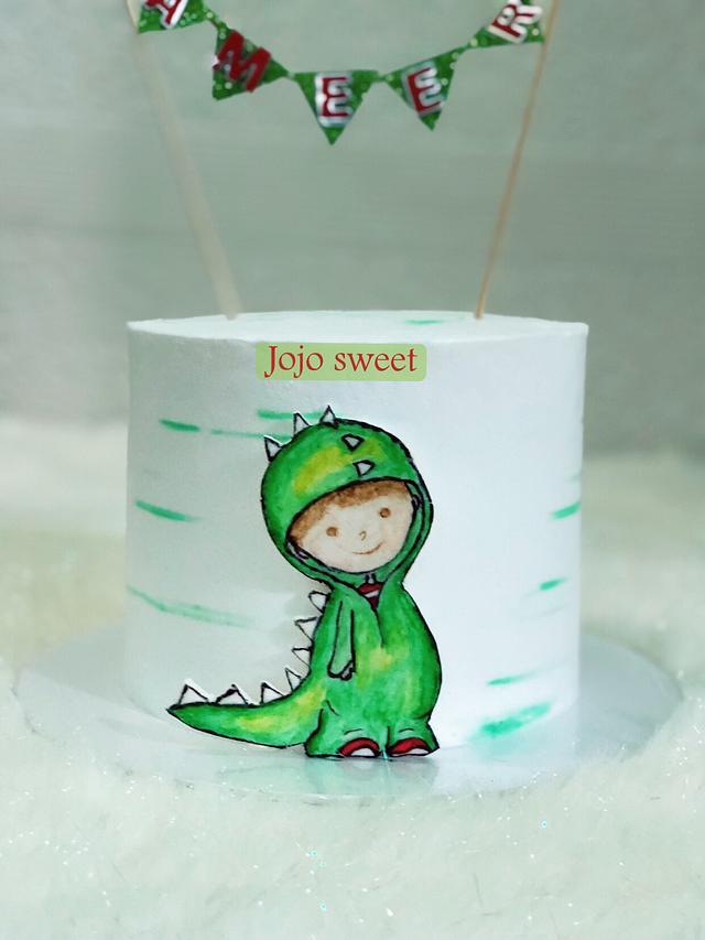 Dinosaur 🦖 boy 👦🏻 cake