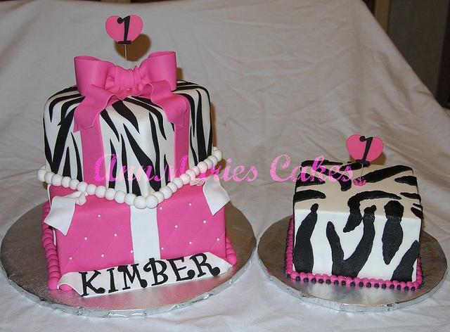 Zebra and Pink 1st Birthday