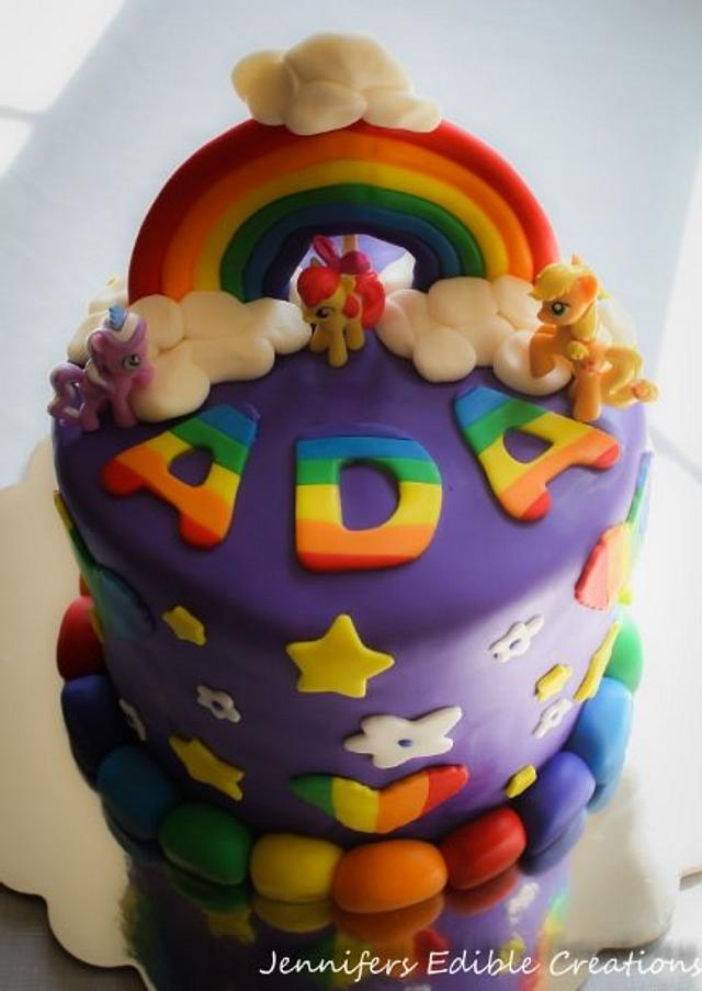 rainbow my little pony cake  cakejennifer's edible