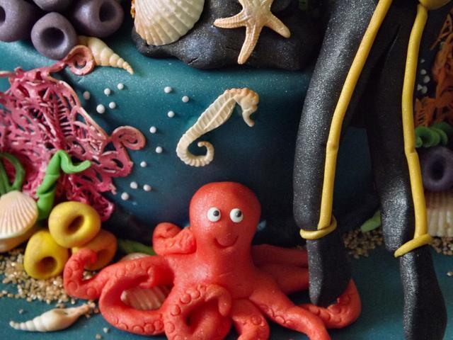 Under The Sea, Scuba Diving Cake