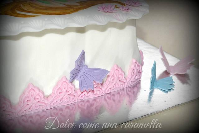 Cake Winx - Painting of sugar paste