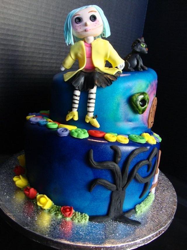 Stupendous Coraline Birthday Cake Cake By Songbirdsweets Cakesdecor Funny Birthday Cards Online Inifodamsfinfo