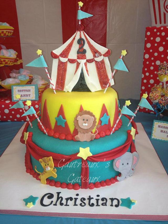 Prime Circus Birthday Cake By Jgaut11 Cakesdecor Personalised Birthday Cards Veneteletsinfo