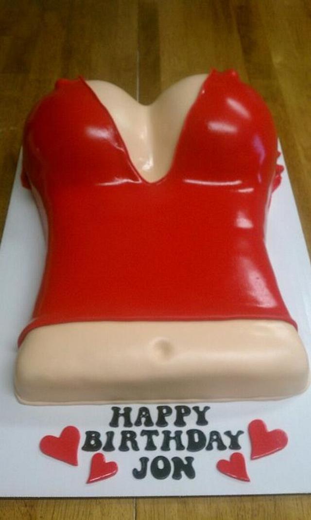 Sexy Girl Birthday Cake
