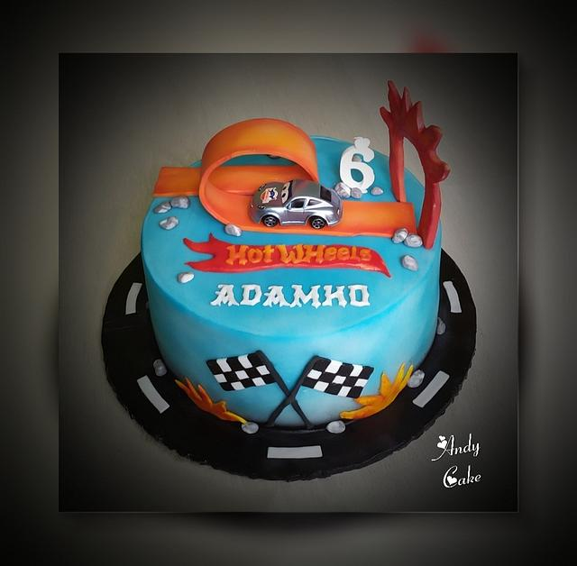Strange Hot Wheels Birthday Cake Cake By Andycake Cakesdecor Funny Birthday Cards Online Chimdamsfinfo