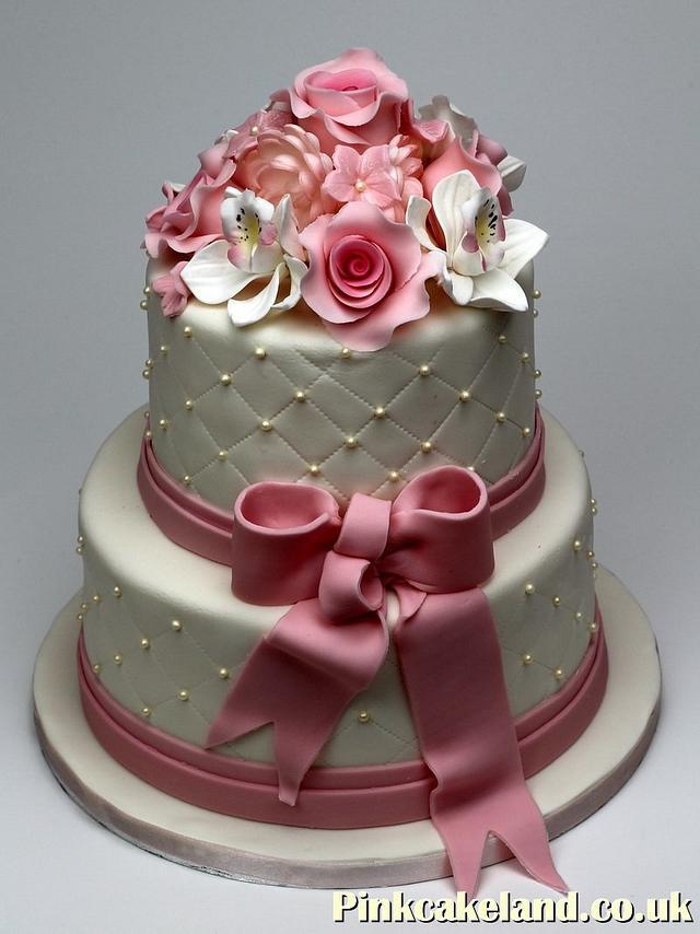 Flowered Wedding Cake