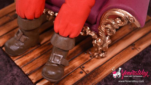 Santa Claus in a Chair Topper