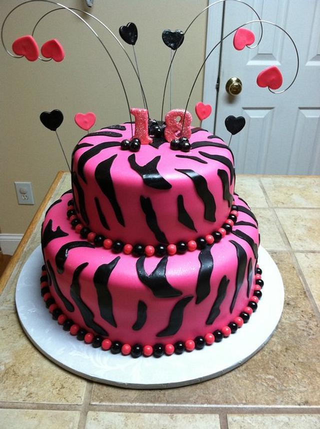 Sweet 18 Birthday cake