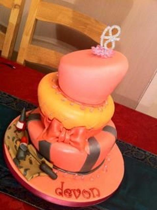 3 Tier Topsy Turvey cake