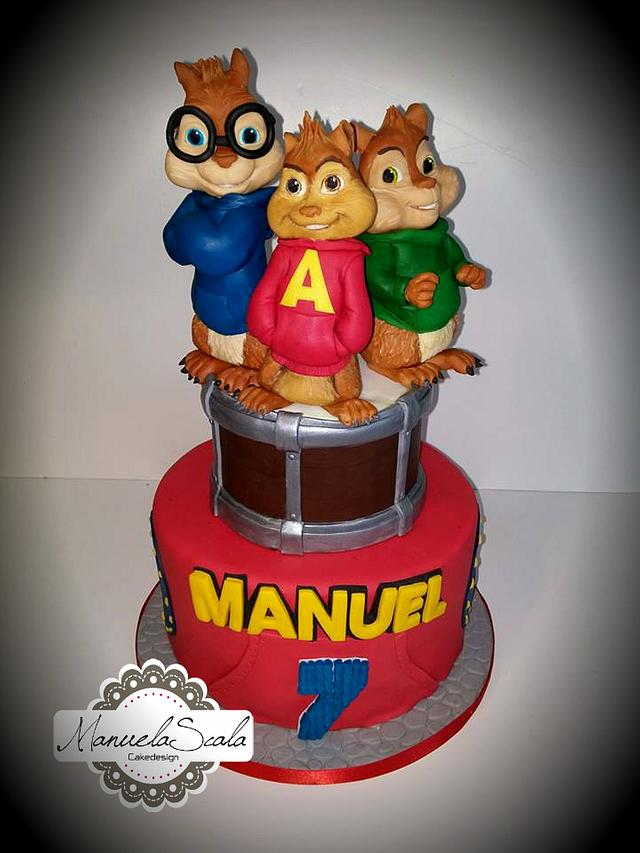 Magnificent Alvin And The Chipmunks Cake By Manuela Scala Cakesdecor Funny Birthday Cards Online Alyptdamsfinfo