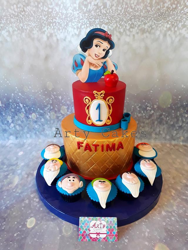 Snow white cake by Arty cakes