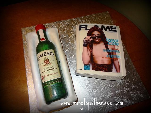 Jameson Bottle and Magazine