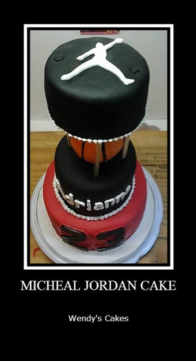 Pleasant Michael Jordan Cake Cake By Wendy Lynne Begy Cakesdecor Funny Birthday Cards Online Elaedamsfinfo