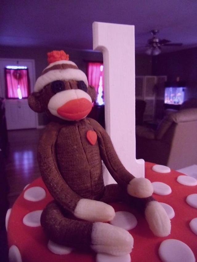 Modeling Chocolate Sock Monkey