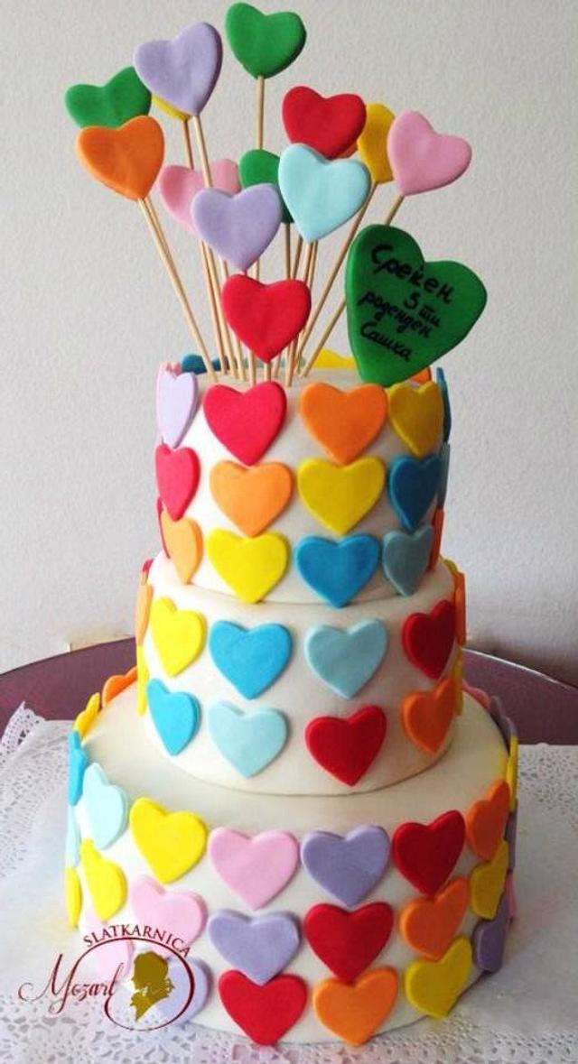 Birthday cake cupcakes&cookies - cake by Mocart DH