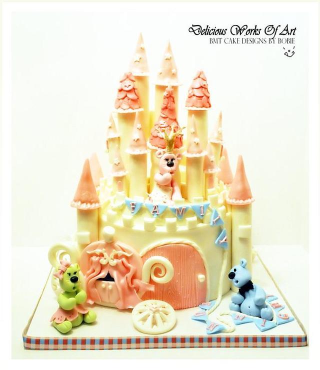 Whimsical Castle Cake